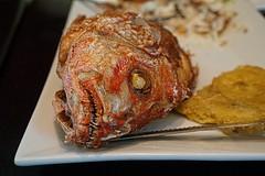 Half lunch (Carlos A. Aviles) Tags: fish pescado chillo red snapper food comida almuerzo lunch restaurant restaurante color seafood