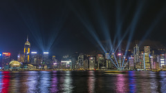 Laser Show (syf22) Tags: hongkong harbour water victoriaharbour lightshow symphonyoflights displays laser show dark dusk evening colourful night laserlights modern buildings architecture cityskyline moderncity fareast rainbow dock shelter shore waterfront seafront bay cove inlet earthasia