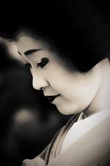 Visage (小川 Ogawasan) Tags: japan japon kyoto maiko tea baikasai matsuri openair tradition kimono lady woman kanzashi face portrait makeup lips eyes kitano geiko