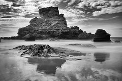 (Pedro dos Anjos) Tags: beach sunset cliffs sea water sand rocks waves tide blackandwhite black white photo photography lanscape seascape sky clouds light nature bw castelejo cordoama praia algarve portugal sony a77