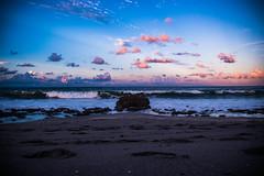 Coral Cove, Jupiter Florida (DJDouken) Tags: ocean sand travel florida sunset vacation beach water sky clouds jupiter rock coral