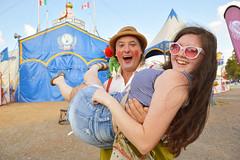 Rachel joins the circus! (radargeek) Tags: statefairgrounds oklahomastatefair 2017 september circus zoppe nino sunglasses tent rachel oklahoma oklahomacity