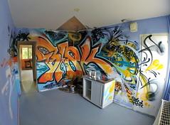 """Tour Beaureg'Art ...🏢🎨🍴 (""""skeba"""") Tags: evenement tour beauregart 2018 montbrison 42 street art streetart graffiti graff expo exposition"""