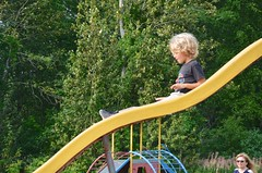 Everett On The Slide (Joe Shlabotnik) Tags: 2018 aroostook slide august2018 everett justeverett maine playground vanburen afsdxvrzoomnikkor18105mmf3556ged