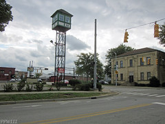 Bridge St. Tower & LSMS Freight House (PPWIII) Tags: grandrapids tower gri lsms kales seward pc penn central freight house fire bridge