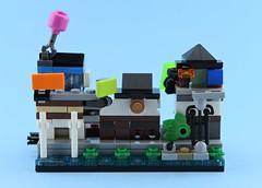 70957 - Ninjago City Docks (Mini Modular) Back (Alex THELEGOFAN) Tags: lego legography moc ninjago city docks mini modular 70957 micro scale small tiny house sea boat microscale the movie model building