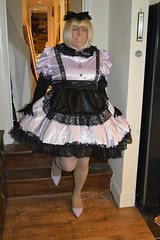 Pale lilac uniform 13 (sissybarbie1066) Tags: sissy maid maids sissymaid sissymaids slave collar bondage locked pale lilac black uniform
