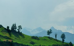 De Alpen worden zichtbaar. (limburgs_heksje) Tags: zwitserland schweiz swiss berner oberland alpen bergen rivier