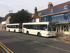 The Wight sisters (bobsmithgl100) Tags: busesexcetera hw54 btv hw54btv btx hw54btx mini pointer dart dennis plaxton bus route479 clocktower highstreet epsom surrey