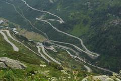 Haarspeldbochten (limburgs_heksje) Tags: zwitserland schweiz swiss grimsell pass berner oberland bergen haarspeldbochten