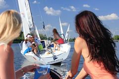 KRYC CUP 2014-4416 (amprophoto) Tags: sail sailing sailingyacht sailboat yachtrace regatta water wind white blue beneteau platu25 peoples sky sport spinnaker fun smile