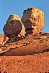 Twin Rocks at Sunrise (William Horton Photography) Tags: capitolreefnationalpark twinrocks utah utahstateroute24 nationalpark redrocks torrey unitedstates us
