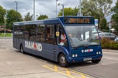 Diamond Bus NW MX58KZG (Mike McNiven) Tags: diamond bus northwest rotala manchester albertsquare wythenshawe interchange reddish holdsworthsquare optare solo diamondbus