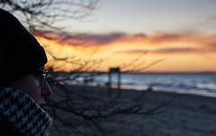 thoughtfully by the sea (CB-Photos) Tags: sea water meer ozean love miss sunset sony nachdenklich traurig allein wellen sonnenuntergang urlaub winter glas brille bokeh