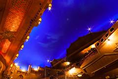 atlanta - fox theatre 8 (Doctor Casino) Tags: foxtheatre maryealgerandvinour oliviervinour 1929 theater moviepalace cinema moorishrevival egyptianrevival eclecticism atlanta atl architecture architect auditorium interior ceiling tent blue nightsky atmospheric balcony