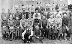 Class photo (theirhistory) Tags: boy children child kid girl school group class pupils students form teacher jumper skirt dress trousers shoes wellies rubberboots building