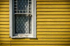 Yellow Clapboard (Rick Olsen) Tags: wall yellow window fuji fujifilm xt2