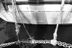 Mooring (José J. Almuedo) Tags: bw monochrom conceptualphotography conceptual blancoynegro abstract fineart mediterranean spain typ113 leicaxtyp113 leica pesquero puerto fishingport port mooring amarre ship