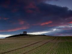 War memorial (burnsmeisterj) Tags: olympus omd em1 stonehaven war memorial sunset cloud sky