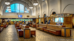 San Diego, CA: Santa Fe Depot waiting room (nabobswims) Tags: ca california commuterrail hdr highdynamicrange ilce6000 lightroom mirrorless nabob nabobswims photomatix railwaystation sel18105g sandiego santafedepot sonya6000 us unitedstates amtrak station