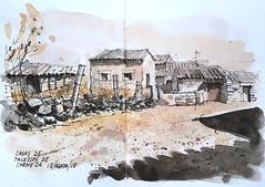 Casas de Palacios de Corneja (P.Barahona) Tags: arquitectura rural urbansketcher pleinair