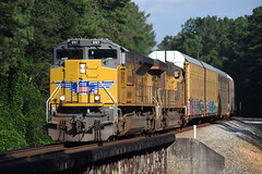 NS 27A 8/12/18 (tjtrainz) Tags: ns norfolk southern 27a autorack train tallapoosa ga georgia alabama division east end district up union pacific emd electro motive sd70ah 8917 ac45ccte 8069