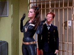 "Julie Newmar as Catwoman in ""Catwoman Goes to College"" 04 (gameraboy) Tags: catwoman batman comics julienewmar cheesecake sexy woman"