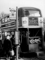 London transport RT4363 on route 64 Croydon March 1959. (Ledlon89) Tags: bus buses london transport rtbus aecregent lt lte londonbusrs londontransport