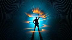 Abracadabra (palateth) Tags: lightpainting lightart night nophotoshop singleexposure urbex abandonnedplace tunnel jasonrinehart spiral