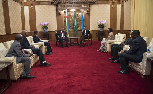 President Kagame meets with President Ismaïl Omar Guelleh of Djibouti ahead of the Forum on China- Africa Cooperation Summit | Beijing, 2 September 2018