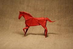 Horse by Hideo Komatsu (Artemiy Nikitin) Tags: horse red hideokomatsu paper tissue origami