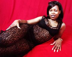 Sugar Black Lace Crochet Robe Panties and Bra Lingerie Portrait Philly Studio Philadelphia Aug 1997 036a (photographer695) Tags: sugar black lace crochet robe panties bra lingerie philly studio philadelphia aug 1997