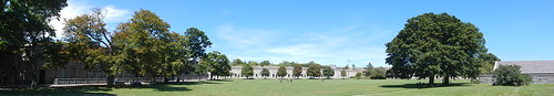 Georges Island, Fort Warren Parade Ground panorama [06.08.2013]