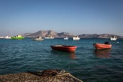 Fishing boats in Pano Koufonisi (Adrià Páez) Tags: fishing boats pano koufonisia koufonisi lesser cyclades island mediterranean sea aegean greece ellada europe water moored canon eos 7d mark ii keros
