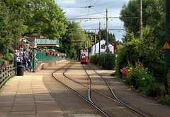 Tram at Colyton Station (Doolallyally) Tags: tram colyton seaton devon england