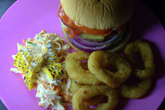 Burger with Onion Rings (Tony Worrall) Tags: add tag ©2018tonyworrall images photos photograff things uk england food foodie grub eat eaten taste tasty cook cooked iatethis foodporn foodpictures picturesoffood dish dishes menu plate plated made ingrediants nice flavour foodophile x yummy make tasted meal nutritional freshtaste foodstuff cuisine nourishment nutriments provisions ration refreshment store sustenance fare foodstuffs meals snacks bites chow cookery diet eatable forsale stock buy image foodphotography buynow sale sell burger buns slaw meat