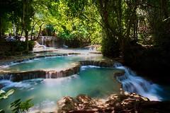 Kuang Si Falls, Laos (joel.hayter) Tags: relaxing calm waterfall landscape laos nature exposure travel asia sony a6000 alpha samyang12mm