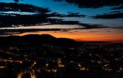 Nice se réveille (notkossi) Tags: sky dawn night city landscape outdoors sunrise outdoor horizon redsky atmosphere light town nice citylights leverdesoleil sunset noperson cloud downtown urban morning