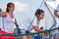 KRYC CUP 2014-4339 (amprophoto) Tags: sail sailing sailingyacht sailboat yachtrace regatta water wind white blue beneteau platu25 peoples sky sport spinnaker fun smile