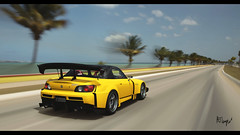 Amuse S2000 GT1 Turbo (at1503) Tags: car sky bluesky trees palmtrees road yellow speed motion blur amuse s2000 amuses2000 hondas2000 japanesecar tunedcar spoiler wing warmtones light gtsport granturismo granturismosport motorsport racing game gaming ps4