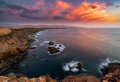 Sunset from Miscoy (Pedro López Batista) Tags: fuerteventura canarias canaryislands canon canaries canary sunset atardecer rocas rock cliff acantilados marinas seascape seaside 6dmarkii 6d tindaya