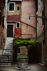 Somewhere in Venice (Marta Marcato) Tags: venezia venice well green house home street streetphotography stairs nikond7200 italy italia outdoor building walls empty lonely