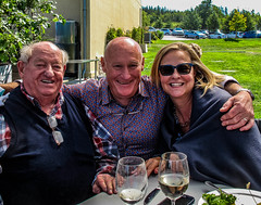 2018 - photo 252 of 365 - Allan, Pete & Jane on a Sunday afternoon (old_hippy1948) Tags: vineyard lucketts