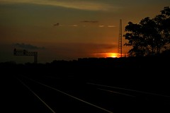 A nice way to start the day (builder24car) Tags: sunrise trackside tower churchsteeple firstlight signals glint norfolksouthern railroadtracks greensboronorthcarolina