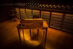 Desk (harryb3md) Tags: lightroomclassiccc penafiel portugal quintadaaveleda sonyrx100v travel desk vineyard winestorage winery