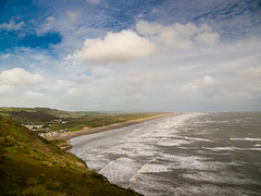 Pendine after the Storm. (hemlockwood1) Tags: pendine storm helene sands beach babs car sky sea parry campbell carmarthenshire wales waves roughsurf blue clouds
