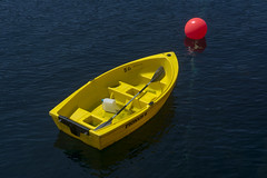 Yellow boat (Jan van der Wolf) Tags: map18926v boat ship yellow red buoy rood water geel boot