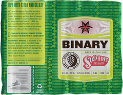 BINARY by Nate Garn for Sixpoint Brewery (Label_Craft) Tags: beer beers craftbeer brew suds ale labels craft labelcraft beerlabel design illustration type fonts burp beerme brewery sixpoint sixpointbrewery beerisculture binary citra galaxy hops iipa dipa neipa ipa redhook brooklyn