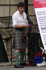 Kilted Tour Guide (MalB) Tags: kilt edinburgh fringe festival scotland pentax k5 royalmile