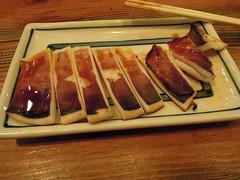 Grilled squid (kevincrumbs) Tags: tokyo 東京 taito 台東 taitoku 台東区 ueno 上野 daitouryou 大統領 もつ焼き大統領 food japanesefood squid イカ